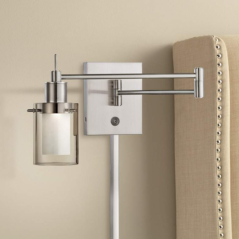 George Kovacs Brushed Nickel LED Swing Arm Wall