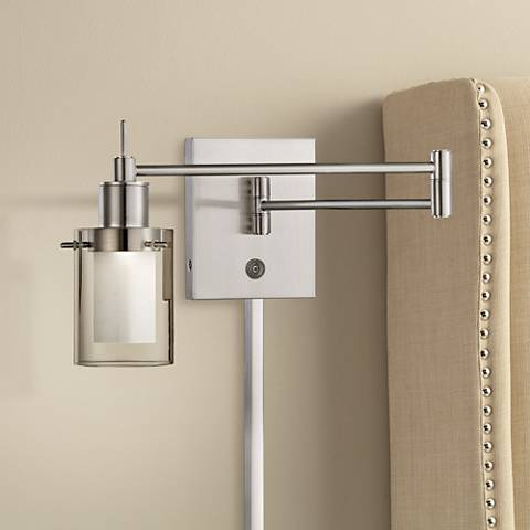 George Kovacs Brushed Nickel LED Swing Arm Wall Lamp