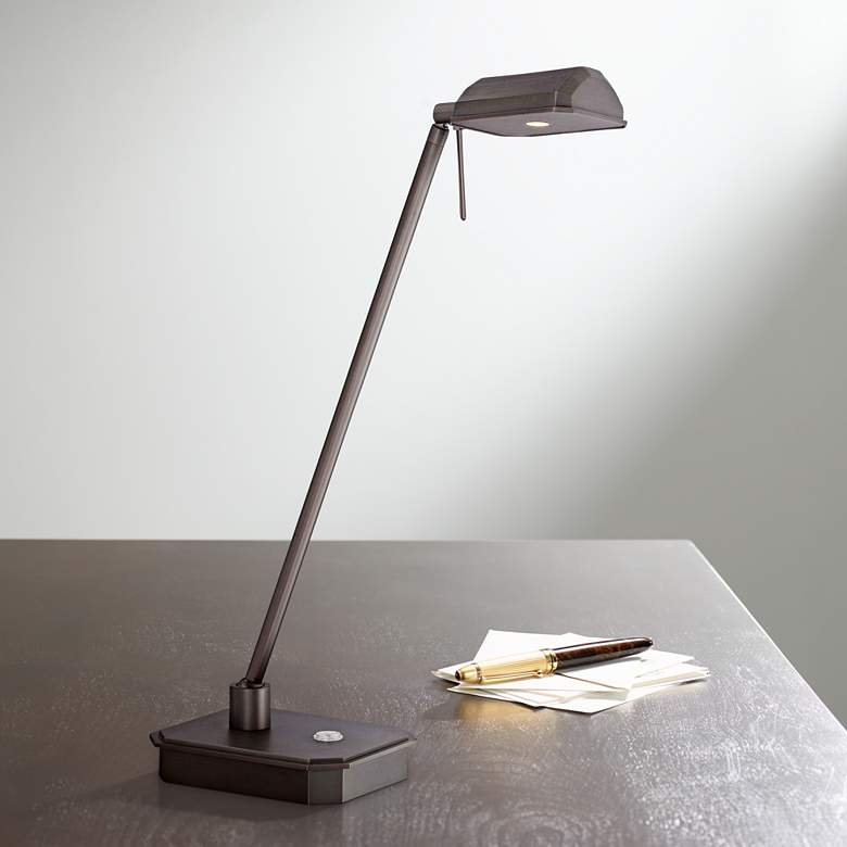 George Kovacs Ashton Bronze Patina LED Desk Lamp