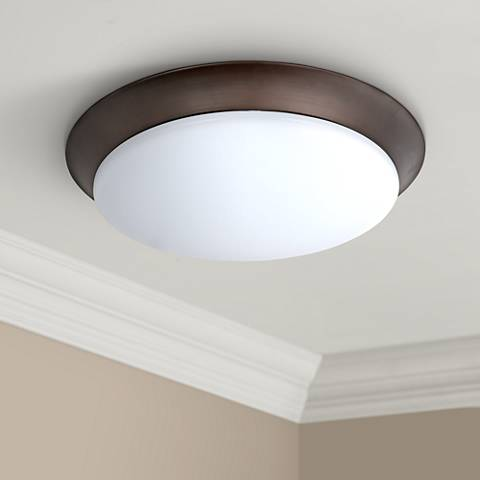 "Maxim Profile 15 3/4""W Bronze Round LED Ceiling Light"