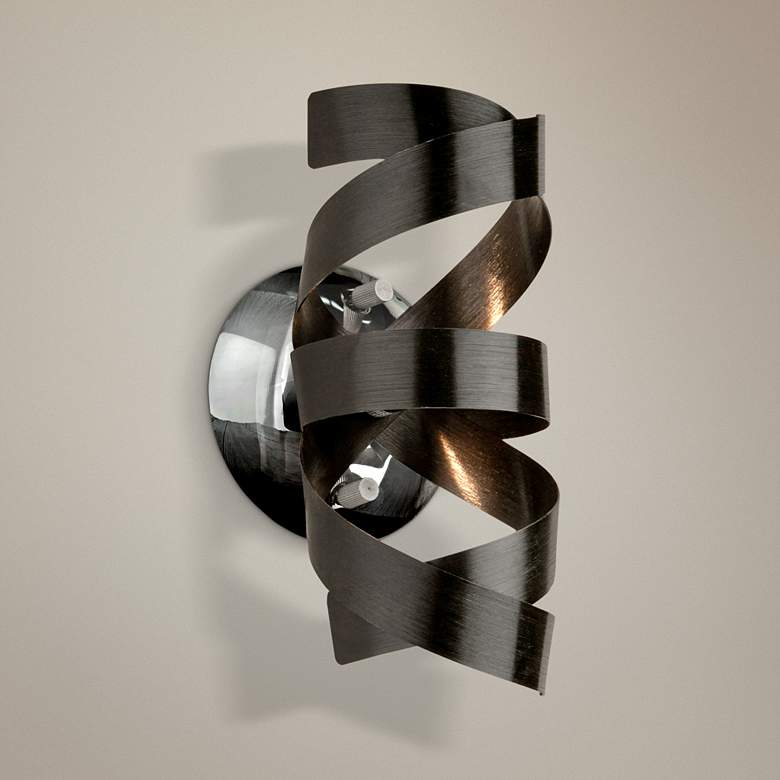 "Artcraft Bel Air 9"" High Black Wall Sconce"