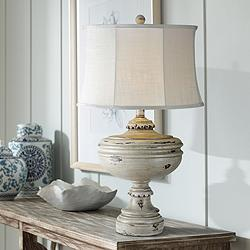 Aiden White Wash Table Lamp