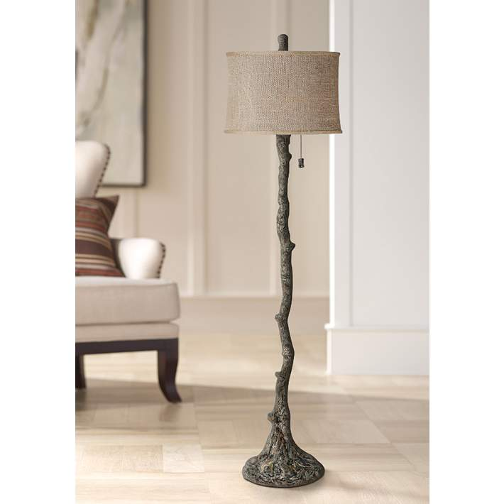 Wesley Bark Tree Branch Floor Lamp 8m826 Lamps Plus