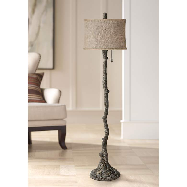Wesley Bark Tree Branch Floor Lamp