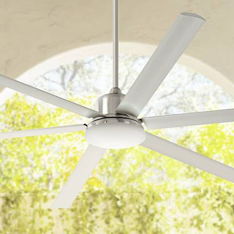 "84"" Casa Arcade™ Brushed Nickel Damp LED Ceiling Fan"