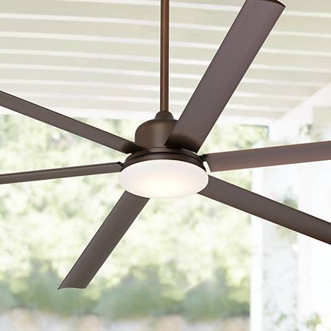 "84"" Casa Arcade™ Bronze Damp LED Ceiling Fan"