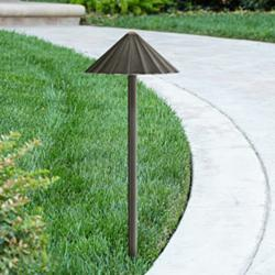 Davenport Bronze Scalloped 3 Watt LED Landscape Path Light