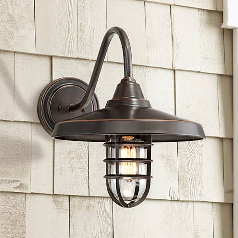 Marlowe 16 3 4 High Bronze Metal Outdoor Wall Light
