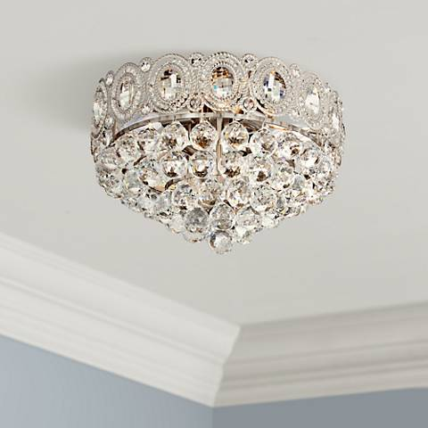 "Moira 16"" Wide Crystal Ceiling Light"