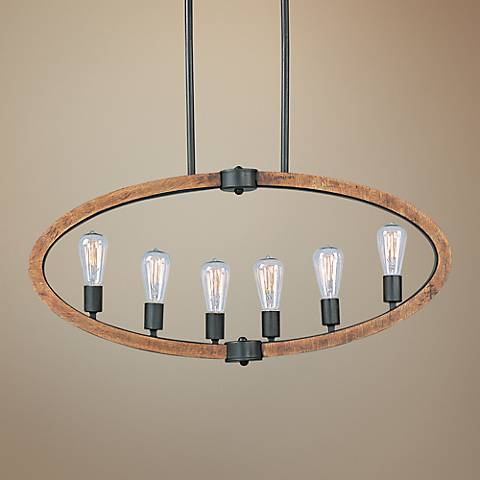 "Maxim Bodega Bay 36"" Wide Linear 6-Light Island Pendant"