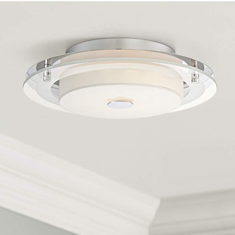 "Possini Euro Clarival 12 1/2"" Wide Chrome LED"