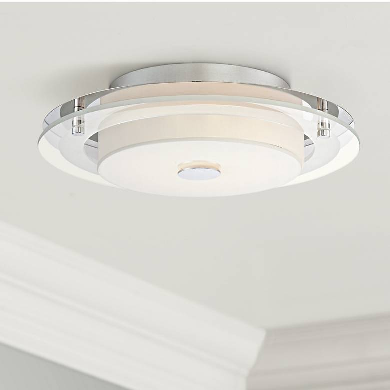 "Possini Euro Clarival 12 1/2"" Wide Chrome LED Ceiling Light"
