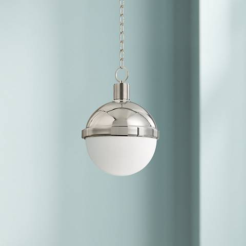 "Hudson Valley Lambert 9 1/2""W Polished Nickel Mini Pendant"