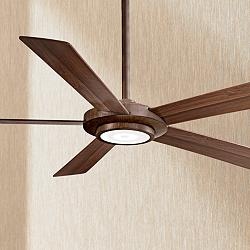 "52"" Minka Aire Sabot Distressed Koa LED Ceiling Fan"
