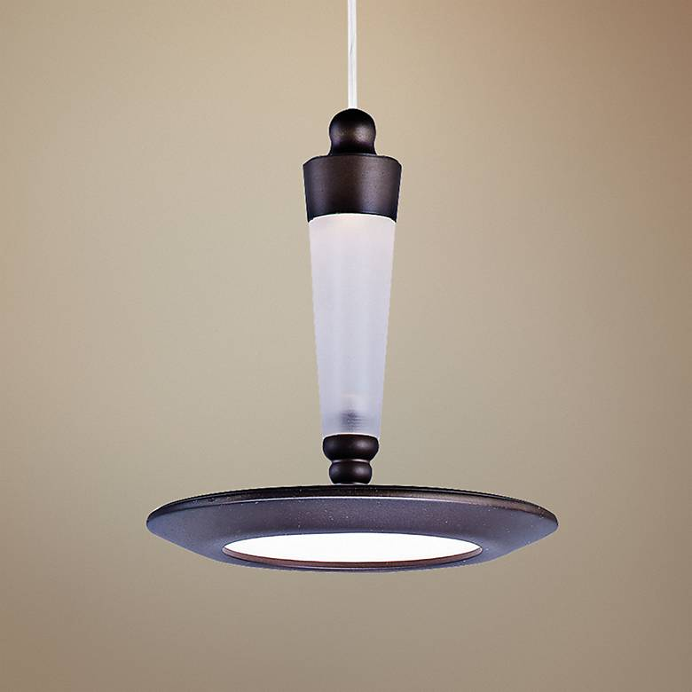 "ET2 Hilite 6 1/4"" Wide Edge-Lit LED Bronze Mini Pendant"