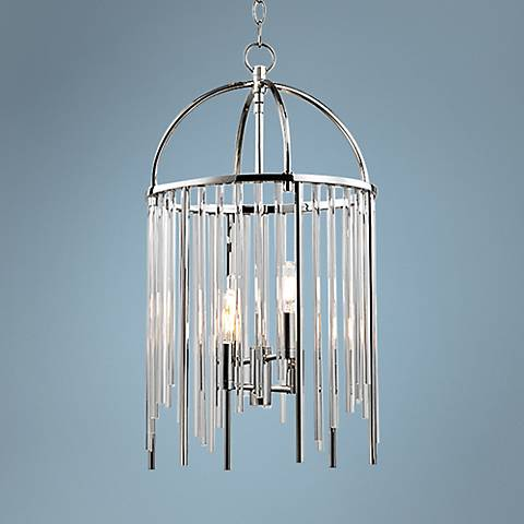 "Hudson Valley Lewis 13"" Wide Polished Nickel Pendant"