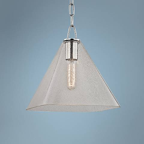 "Hudson Valley Sanderson 11""W Polished Nickel Mini Pendant"