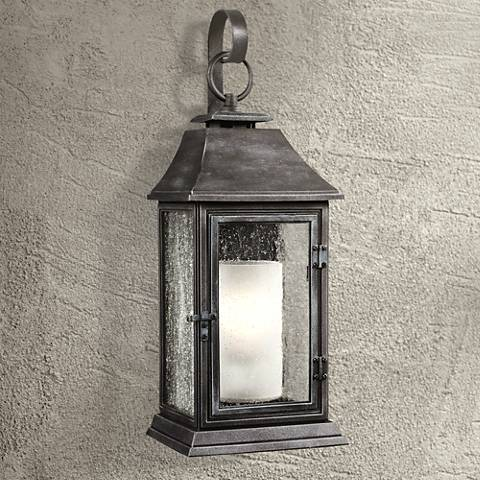 "Feiss Shepherd 25 1/2""H Weathered Zinc Outdoor Wall Light"