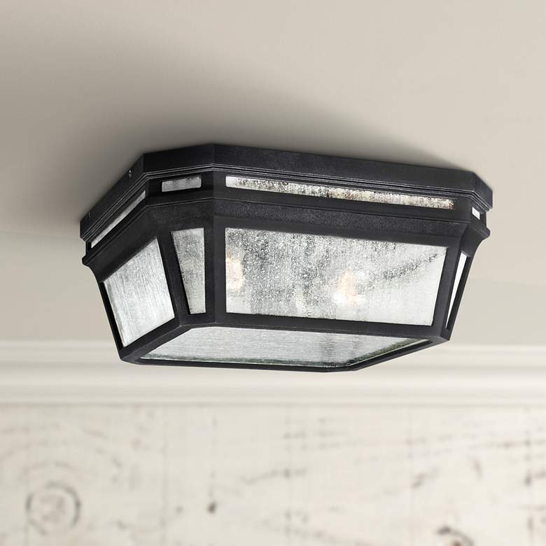"Feiss Londontowne 11 3/4"" High Black Outdoor Ceiling"