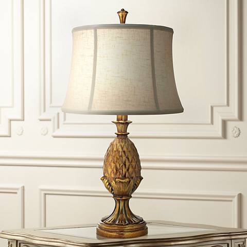 Stiffel Royal Luao Polished Honey Brass Metal Table Lamp