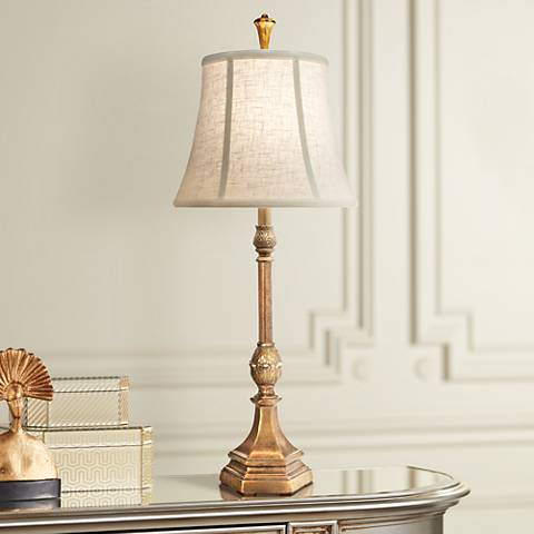 Stiffel Royal Keiki Polished Honey Brass Buffet Table Lamp 8n863