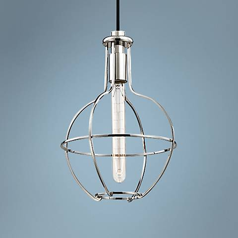 "Hudson Valley Colebrook 10"" Wide Open Nickel Mini Pendant"