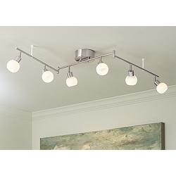 Pro Track® Globe 6-Light LED Track Kit in Satin Nickel