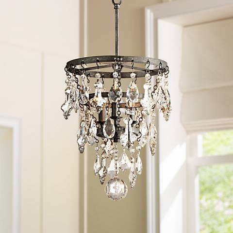 "Meritage 12 1/2"" Wide Plated Crystal 3-Light Pendant"