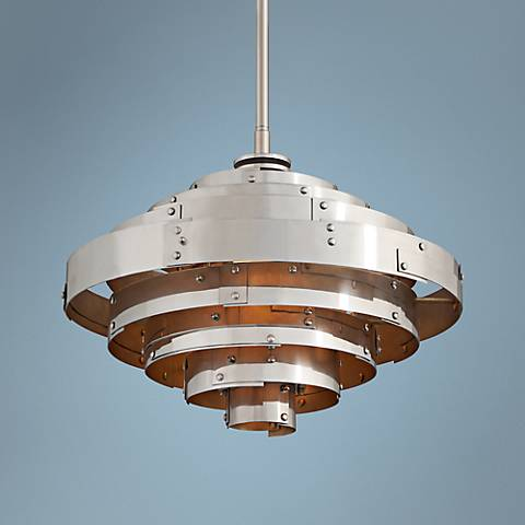 "Mitchel Field 18"" Wide LED Vintage Aluminum Pendant"