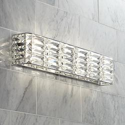 "Possini Euro Vivienne 24 1/2"" Wide Crystal Bath Light"