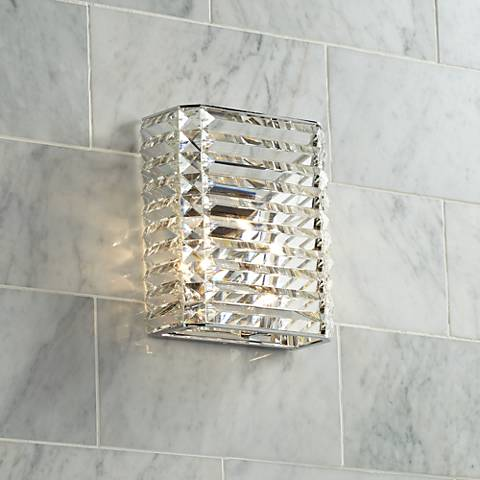 "Possini Euro Vivienne 9"" High Crystal Wall Sconce"