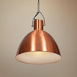 "Essence 12"" Wide Brushed Copper Dome 1-Light Mini Pendant"