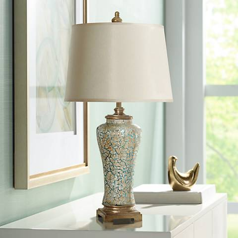 Ginger Caledonia Glass Jar Table Lamp