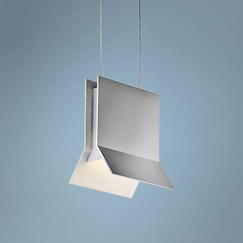 "Sonneman Lambda 5"" Wide Satin Aluminum LED Mini Pendant"