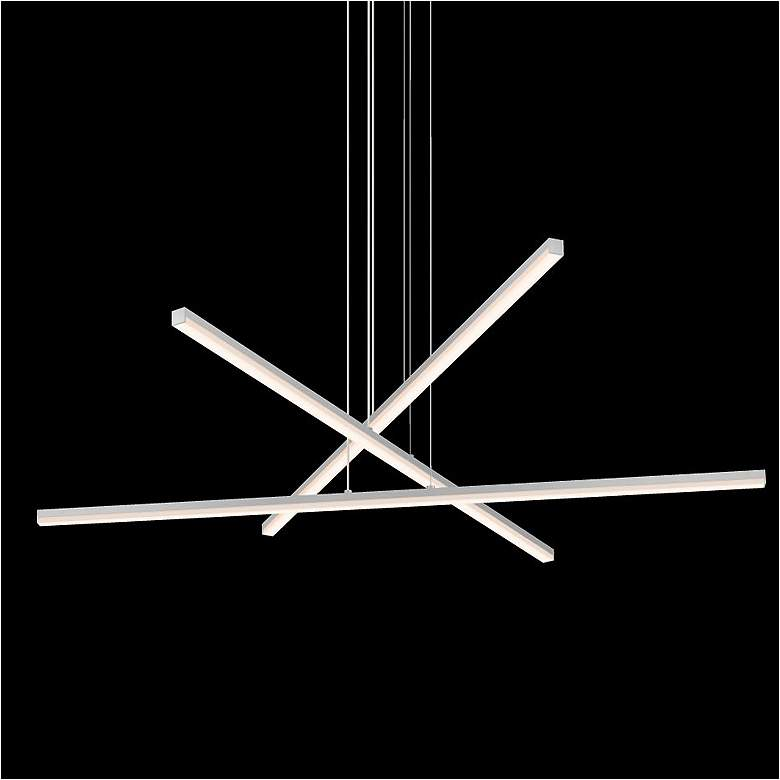 "Sonneman Stix 39 1/2""W Satin Aluminum 3-Light LED Pendant"