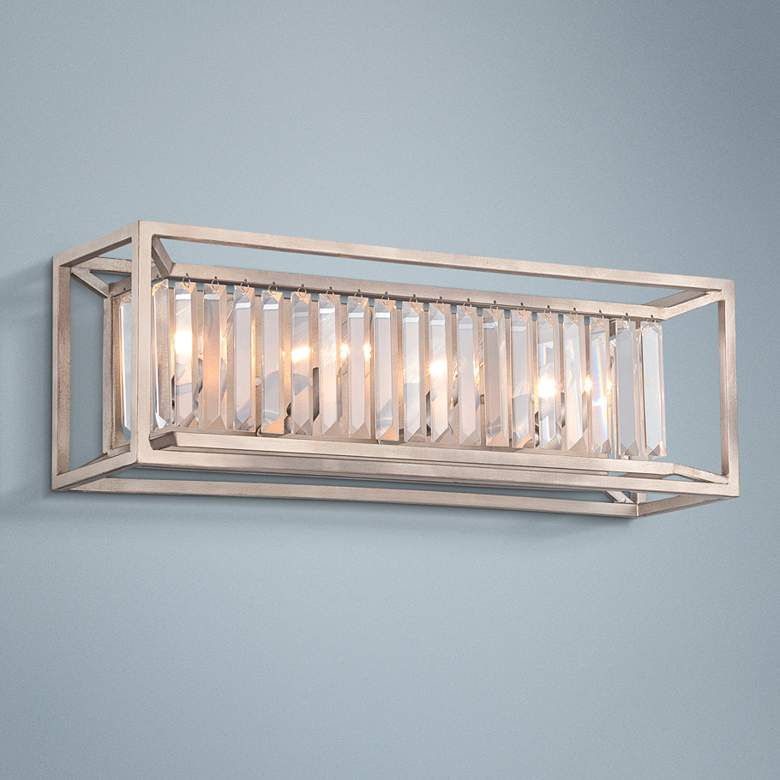 "Linares 23 3/4"" Wide Aged Platinum Bath Light"