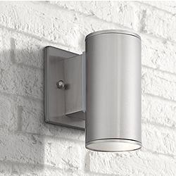 "Barrow 6"" High Satin Platinum LED Outdoor Wall Lantern"