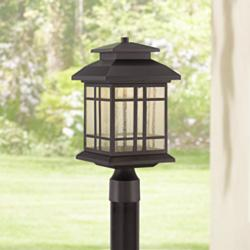 "Piedmont 16 1/2""H Oil Rubbed Bronze LED Outdoor Post Light"