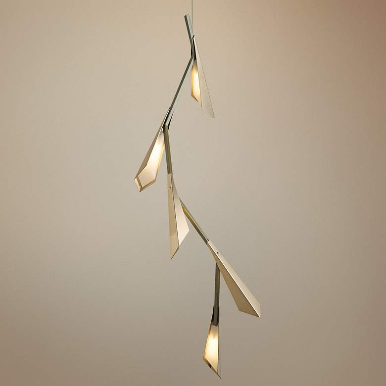 "Hubbardton Forge Quill 46 1/2""H LED Gold Linear"
