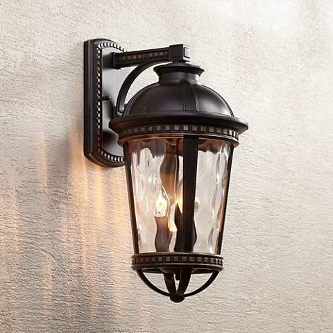 "Provence 18"" High Bronze Downlight Outdoor Wall Light"