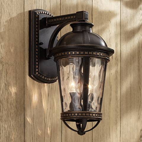"Provence 15"" High Bronze Downlight Outdoor Wall Light"