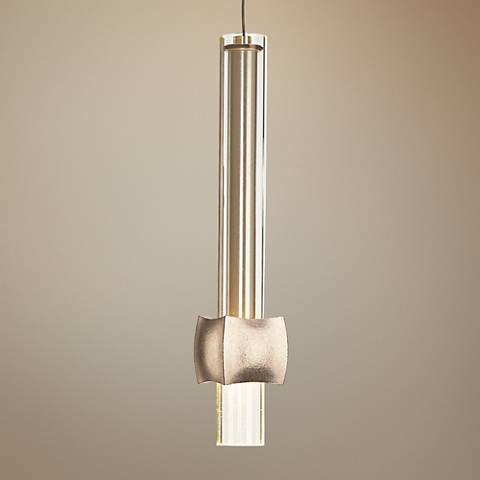 "Hubbardton Forge Squinch 3""W Gold Block Mini Pendant"
