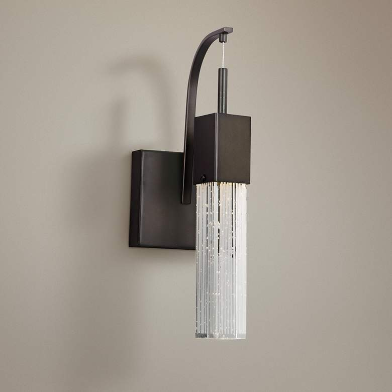 "ET2 Fizz III 14 1/2"" High Bronze LED Wall Sconce"