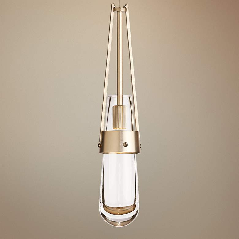 "Hubbardton Forge Link Gold 3""W Clear Glass Mini"