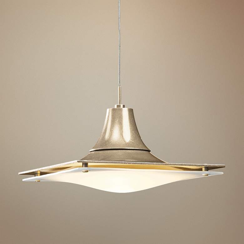 "Hubbardton Forge Hood Opal Glass 10""W Gold Mini"