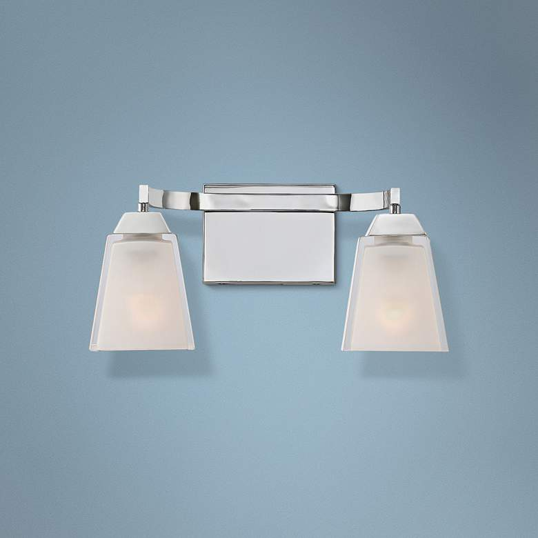"Quoizel Loft 15"" Wide Polished Chrome Bathroom Lighting"