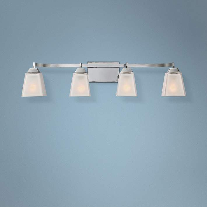 Quoizel Loft 34 Wide Polished Chrome Bathroom Lighting 8r924 Lamps Plus