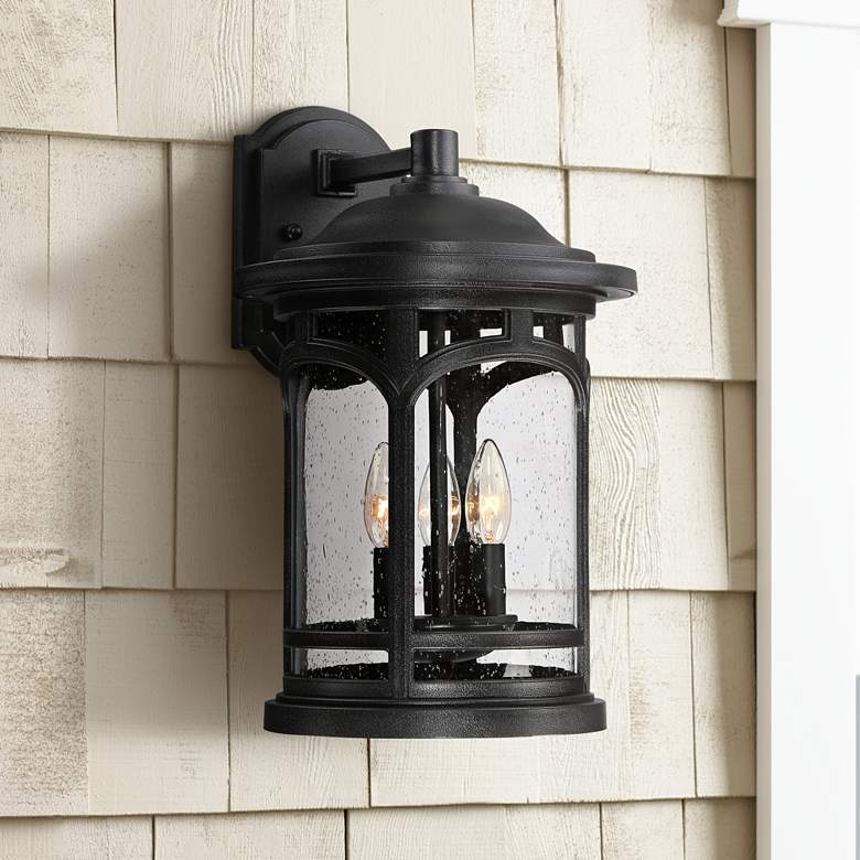 "Marblehead 17 1/2"" High Mystic Black Outdoor Wall"