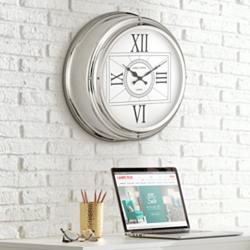"Carnaby 18"" Round Stainless Steel Wall Clock"