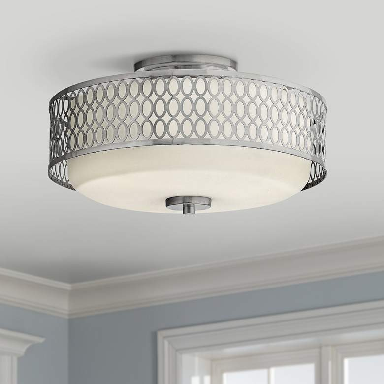 "Hinkley Jules 8 1/4"" High Brushed Nickel Ceiling"